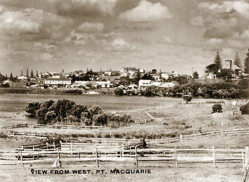 newsouthwales australia jeffc historic aussiejeff portmacquarie nsw vintage stthomas old sepia restore postcard travel kooloonbung creek