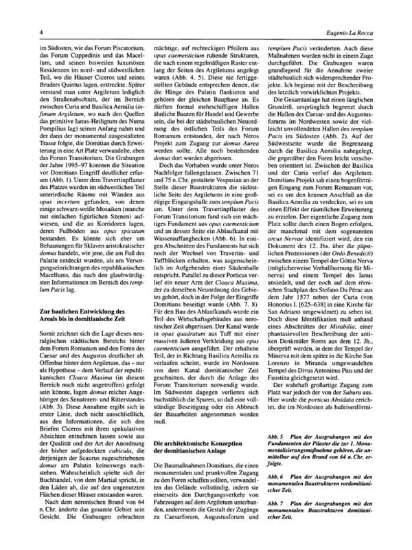 """ROMA ARCHEOLOGICA & RESTAURO ARCHITETTURA: Eugenio La Rocca,. """"Das Forum Transitorium: Neues Zu Bauplanung Und Realisierung [= Foro di Nerva - Scavi negli anni 1995-1997]."""" Antike Welt 29, no. 1 (1998): 1-12."""