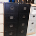 E100 filing cabinet black metal