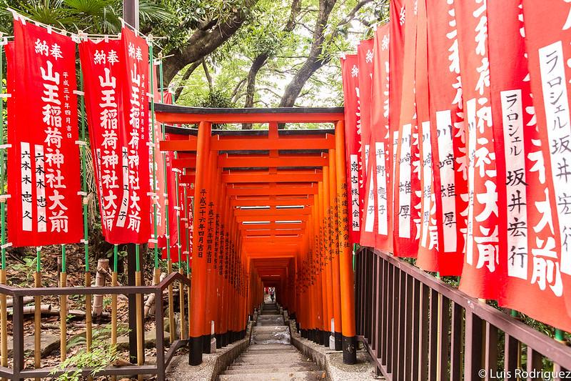 Camino de toriis del santuario Hie