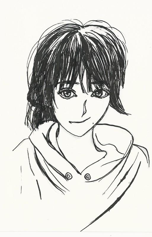 Michishige Sayumi First Manga pen drawing III