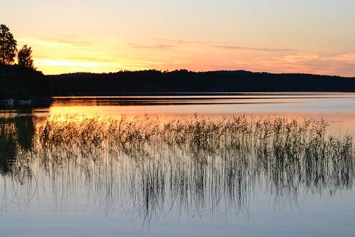 solnedgång sunset sweden sverige laxsjön sjö dalsland bengtsfors