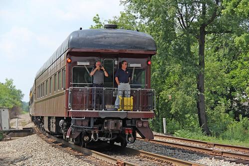 passengertrain passengercars prr120 jtcx120 businesscars pennsylvaniarailroad openplatformobservationcar hubbardohio