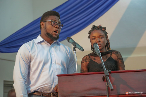 A musical interlude by Israel Fredrick Chituru, a Bachelor of Arts (Communication Studies) graduand and a colleague graduand from the Department of Music.
