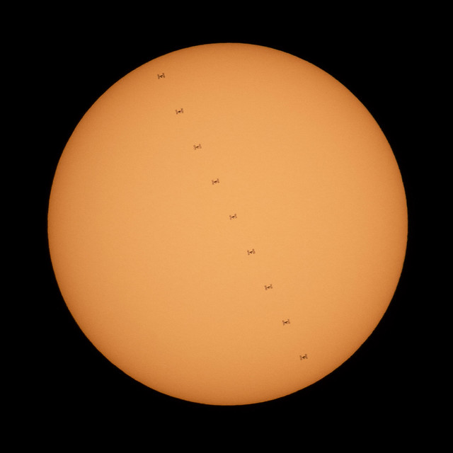 The Space Station Transits Our Sun