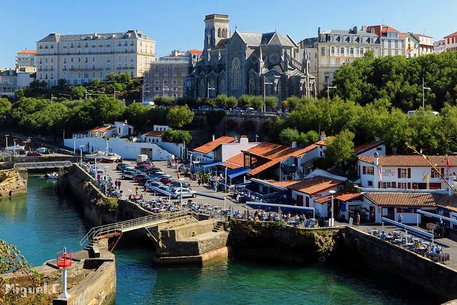 Biarritz Francia , puerto viejo