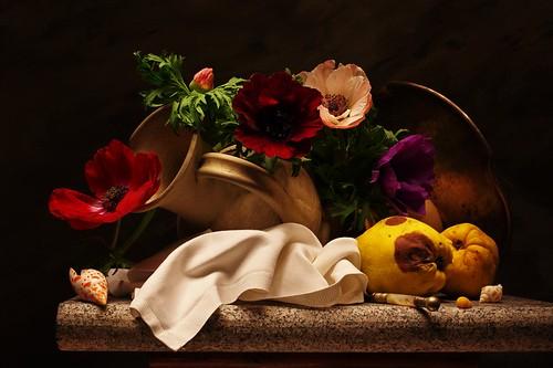Still life with late Anemones | by Sergei Sogokon