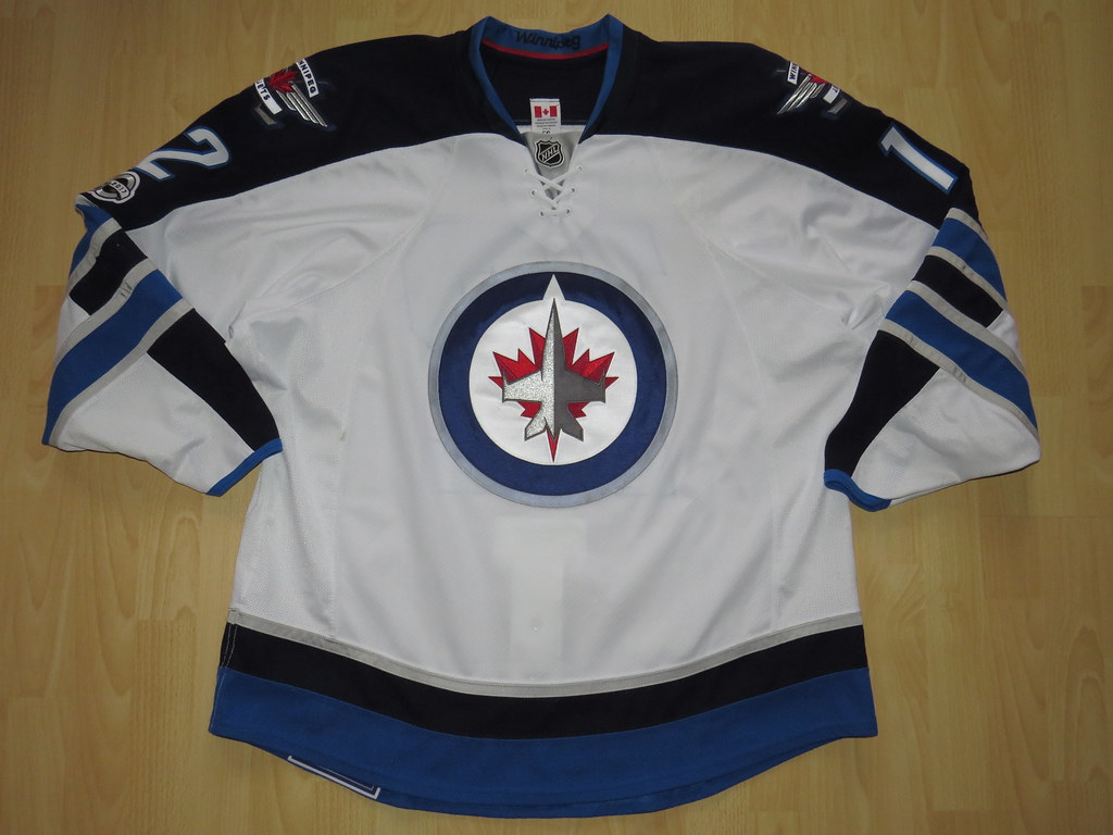 new arrivals 4d632 c0bf8 Winnipeg Jets 2016 - 2017 road Game Worn Jersey | R. D. aka ...