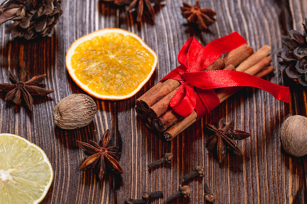 Traditional Winter Spices Anise Cinnamon Cloves And Nut