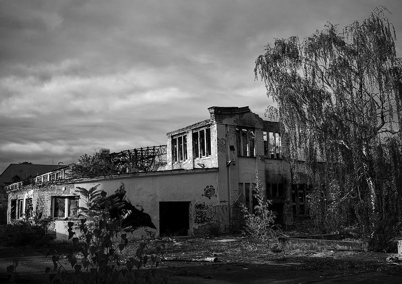Ausgebranntes Verwaltungsgebäude BW