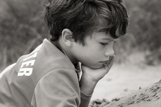 Boy on the dunes