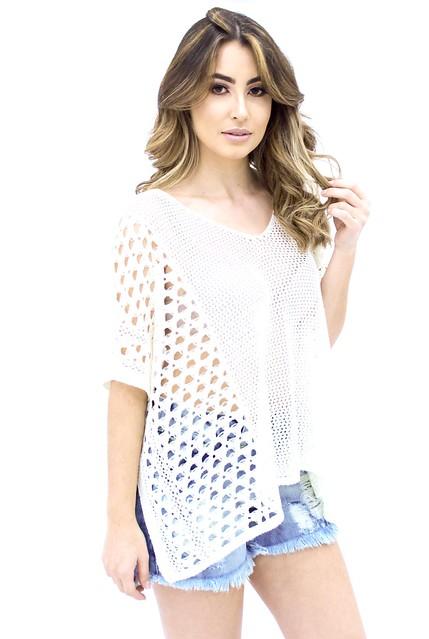 Blusa ampla de tricot 32,00