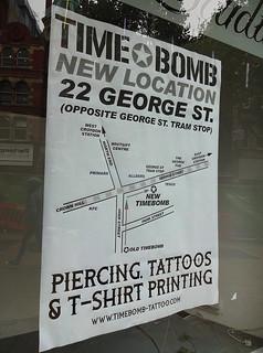 Notice at ex-Time Bomb, Croydon, London CR0   by Kake .