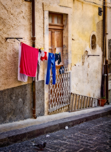 Red and blue laundry | by Tigra K