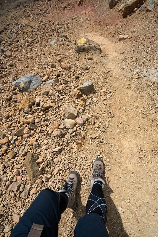 雌阿寒岳の登山道