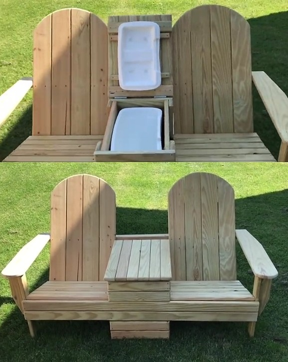 Awe Inspiring Adirondack Cooler Bench Get Access To 16 000 Woodworking P Gmtry Best Dining Table And Chair Ideas Images Gmtryco