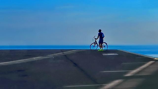Looking at the horizon