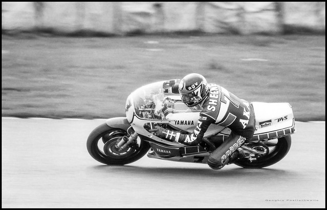 Barry Sheene on the Yamaha
