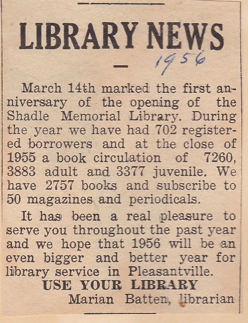 SCN_0003 Library News by Marian 195603xx first anniversary