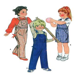 Butterick 3446 Children Bib Overalls
