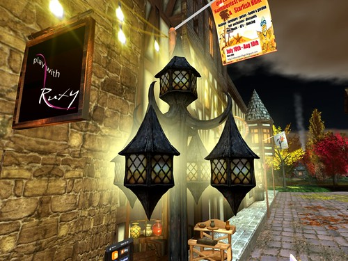 Old Europe -Oktoberfest - Street Light   by mromani50