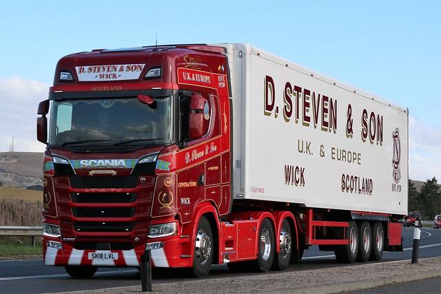 D Steven & Son Scania S580 V8 SK18LVL