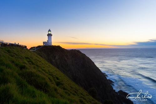 Byron Bay Lighthouse Sunrise   by Theo Crazzolara