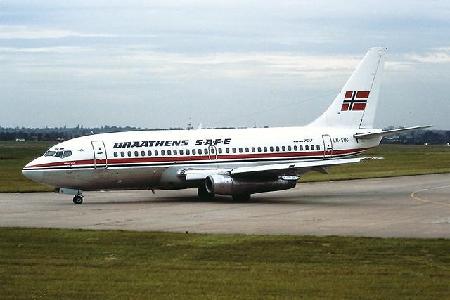 LN-SUG Boeing 737-200 Braathans SAFE BHX 10-09-88