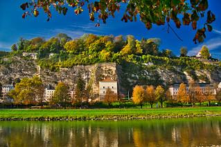 Along the Salzach in Salzburg - explored! Thanks! | by echumachenco