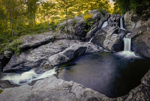 waterfall waterbury vermont unitedstates