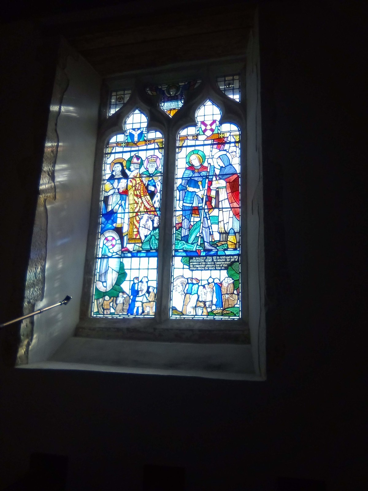 Cowden Village Church stained glass window