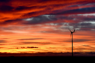Wind turbine sunset | by Kevin Keatley1