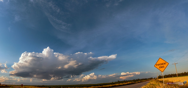 062318 - Dying Thunderstorms @ Sunset (Pano) 003