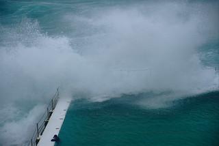 Wave breaks over Icebergs   by aenigmatēs