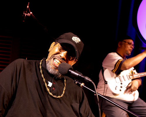 Big Al Carson at WWOZ - 10.25.18. Photo by Bill Sasser.