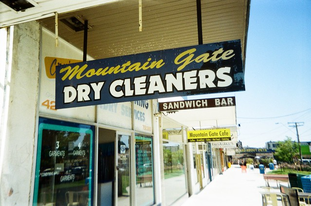 Sign - Mountain Gate Dry Cleaners