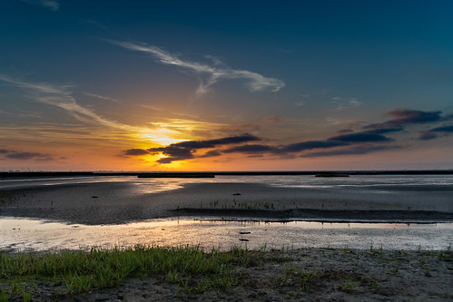 sonnenuntergang watt husum strand dockkoog wattenmeer nordsee sonne schleswigholstein deutschland de