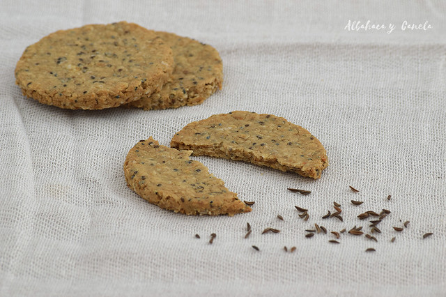 Oatcakes with caraway seeds