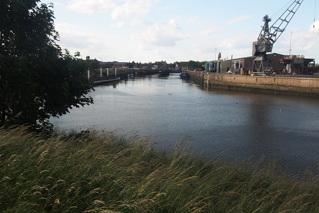 The river Witham and docks in Boston