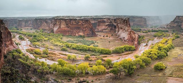 Under the storm. Canyon de Chelly from Tsegi Overlook, Navajo Nation, Arizona.