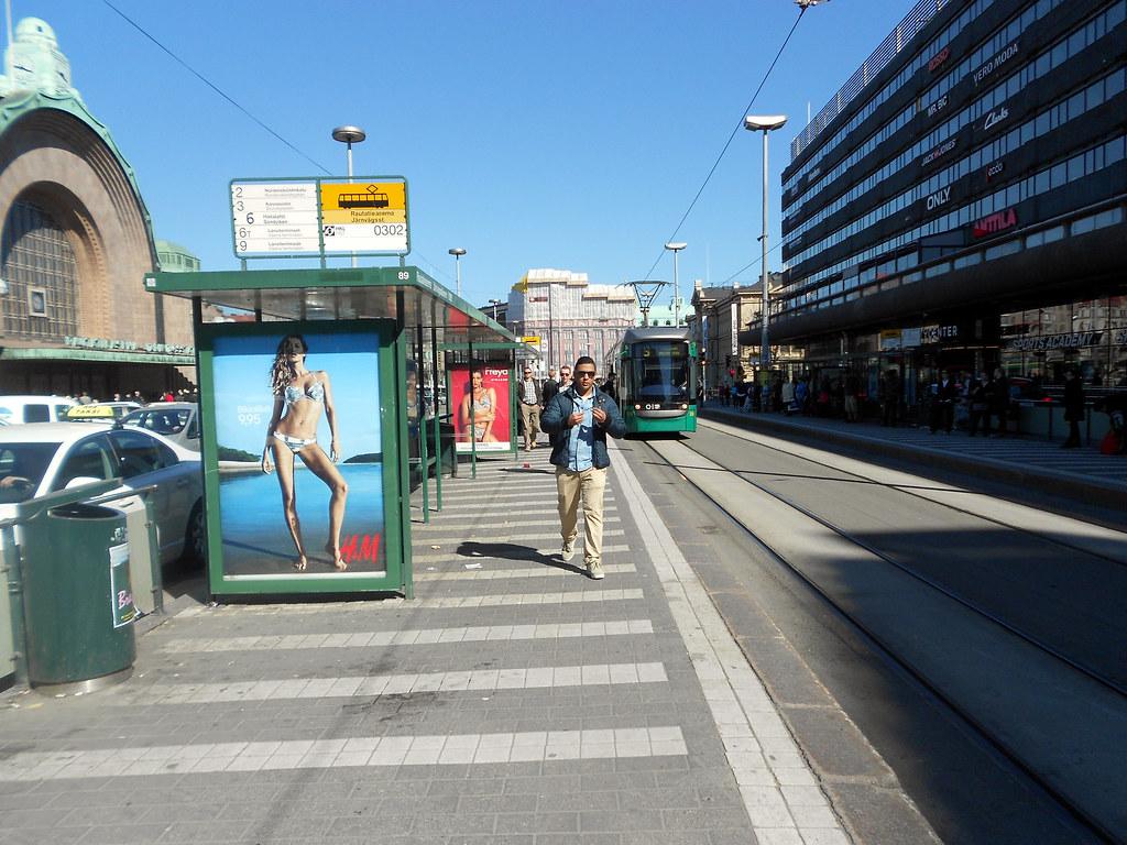 Хельсинки. Привокзальная площадь.