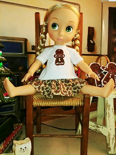 Disney Animator Doll Clothes Fits 16 Inch Dolls Christmas Gingerbread Doll Top Skirt Handmade Free Shipping | by Stitchcottage