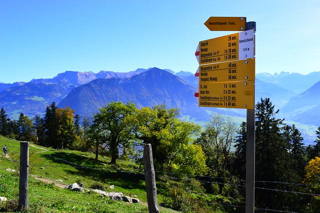 Auf dem Bürgenstock mit Blick Richtung Buochserhorn