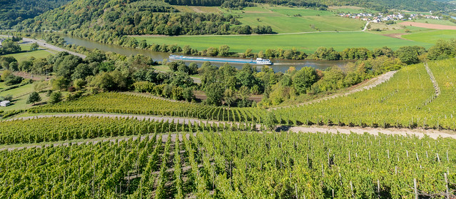 River Saar seen from Schloss Saarstein, Germany