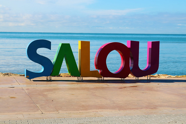 Salou Spain sign