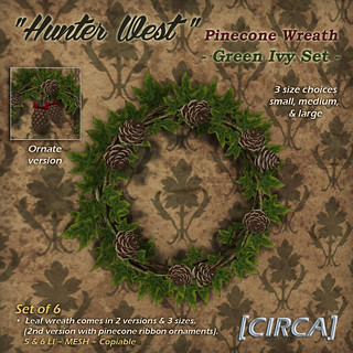 Hunter West - Pinecone Wreath - Green Ivy | by Cherelle Capra - [CIRCA] Living
