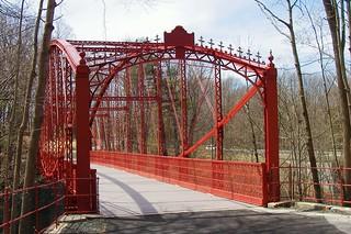 Lover/'s Leap Falls Bridge New Milford Historical Society Pewter Medallion