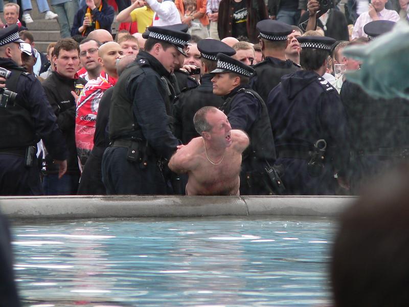 Arrested streaker