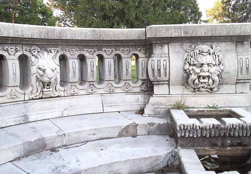 Detail: Merrill Fountain--Detroit MI