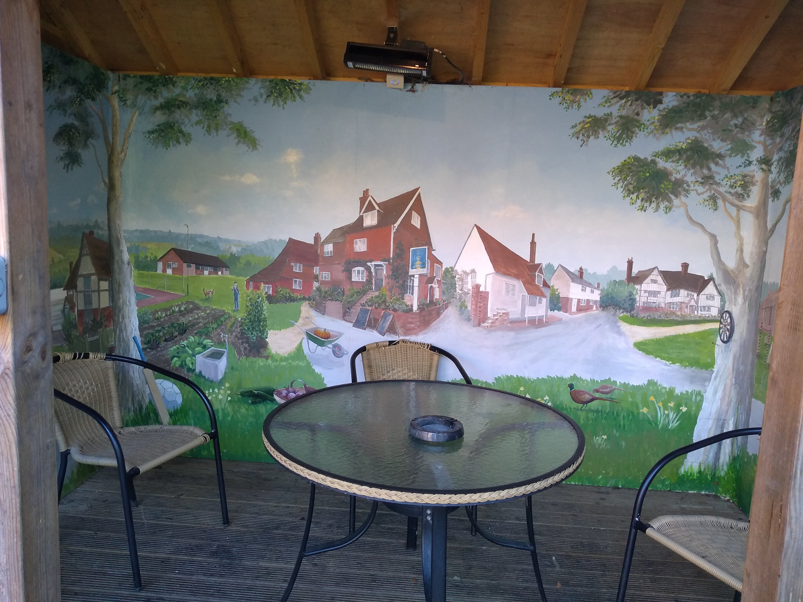 The Fountain smokery with mural